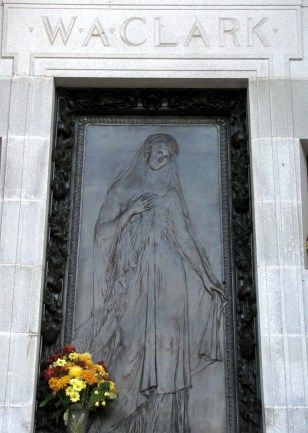Bronze door of Clark mausoleum