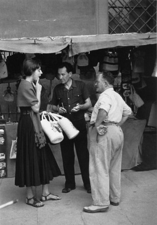 "Image: ""Negotiating with the Shopkeeper,"" Florence, Italy, 1951"