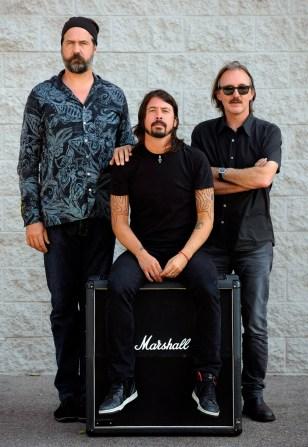 Image: Krist Novoselic, Dave Grohl, Butch Vig