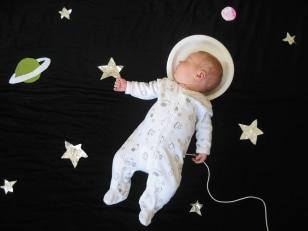 Image: Baby Mila as an astronaut