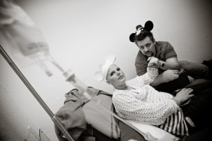 Image: Lainie and Joseph Jones during Lainie's chemotherapy treatment