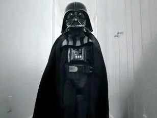 Image: Max Page as Darth Vader
