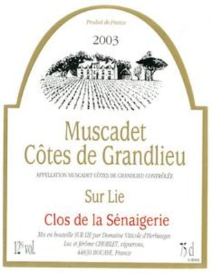 Image: Muscadet wine label