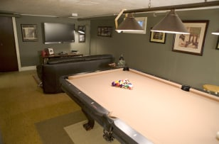 Image: Pool hall in a man cave