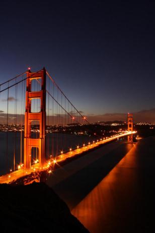 Sunrise overlooking the Golden Gate Bridge, San Francsico, Calif.