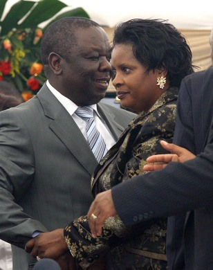 Image: Tsvangirai and his wife