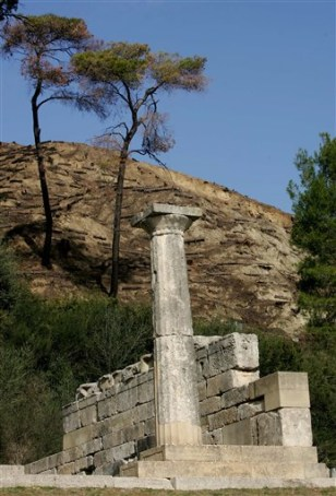 A column of the temple of Hera