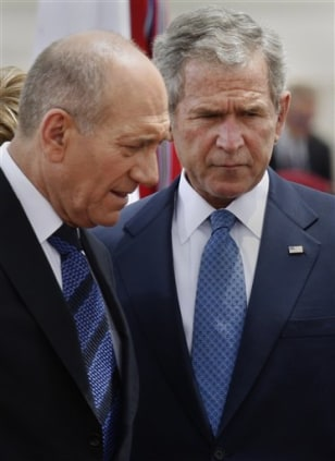 Image: Israeli PM Olmert and President Bush
