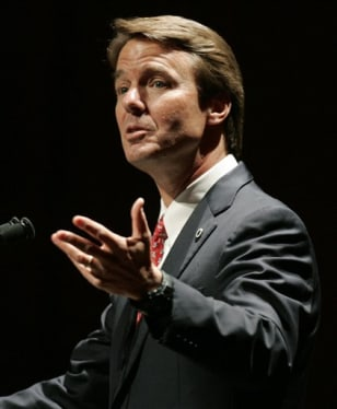 Image: Former Democratic presidential candidate John Edwards