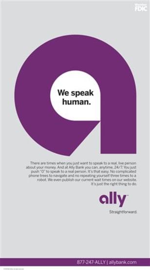 Image: Ally Bank ad