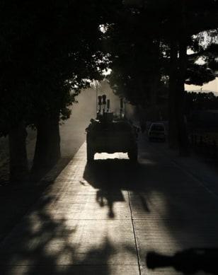 Image: German patrol near Kunduz, Afghanistan