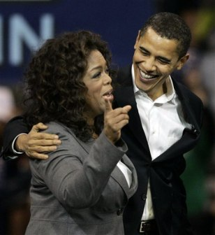 IMAGE: Oprah Windrey and Barack Obama