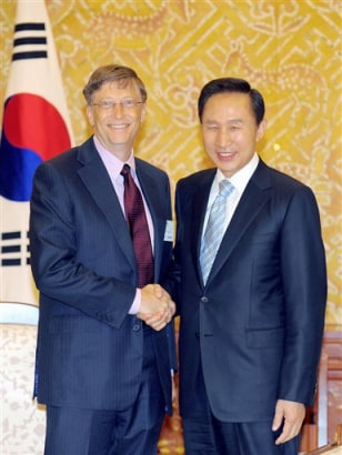 Image: Bill Gates, Lee Myung-bak