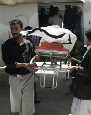 Image: Body of kidnap victim in Yemen