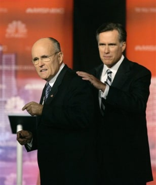 IMAGE: Rudy Giuliani and Mitt Romney
