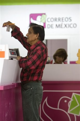 Image: Man at Mexican post office