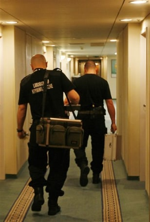 IMAGE: POLICE AT HOTEL