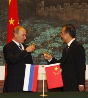 Image: Putin and Wen
