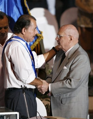 IMAGE: Daniel Ortega and Enrique Bolanos