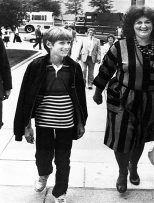IMAGE: AIDS victim Ryan White, and mother Jeanne White