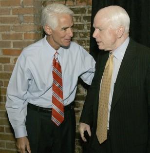 Gov. Charlie Crist, R-Fla., Sen. John McCain, R-Ariz.