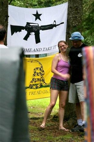 Image: Libertarians camp