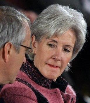 Image: Colorado Gov. Bill Ritter Jr., left, talks to Kansas Gov. Kathleen Sebelius