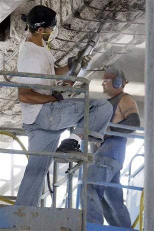 Image: Crews work on bridge