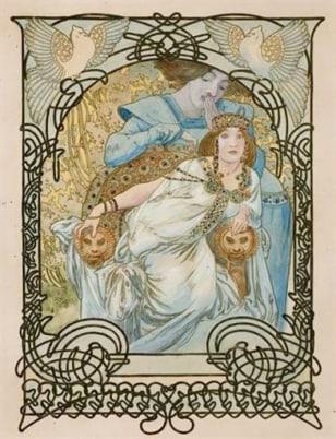 Image: Alphonse Mucha art nouveau