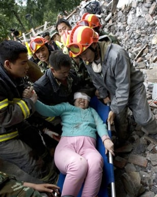 Image: Quake survivor
