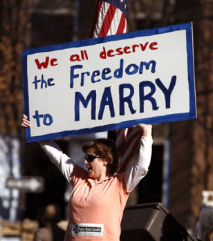 Image: Gay marriage supporter in Maine