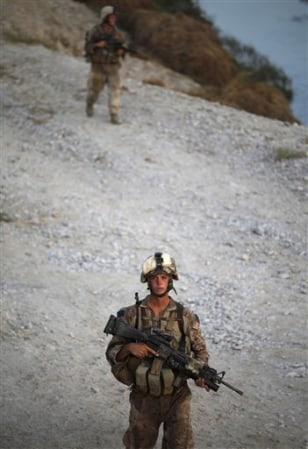 Image: U.S. Marines from Bravo Company, 1/5 Marines, 2nd MEB
