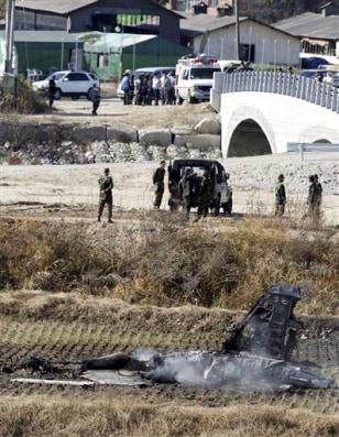 Image: Crashed jet in South Korea