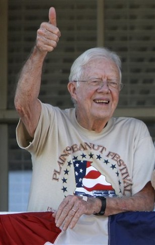Image: Former President and peanut farmer Jimmy Carter