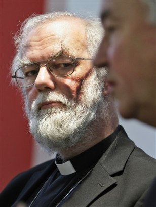 Image: Britain's Archbishop of Canterbury Rowan Williams