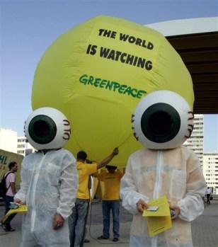 IMAGE: GREENPEACE CLIMATE PROTEST