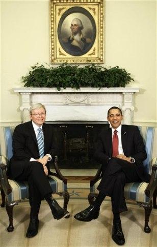 Image: President Barack Obama and Australian Prime Minister Kevin Rudd