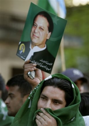 IMAGE: PRO-SHARIF PROTESTERS