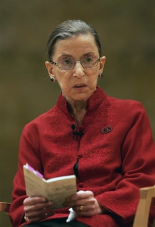 Image: Supreme Court Justice Ruth Bader Ginsburg.