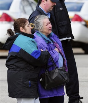 Image: Mother, left, and grandmother of Richard Poplawski