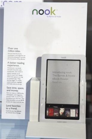 "Image: Barnes & Nobles' ""nook"""