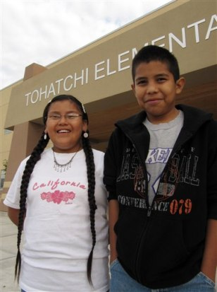 Image: Shanika Begay, left, and Darius Yazzie