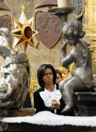 Image: First lady Michelle Obama in Prague
