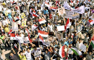 Image: Syrian supporters of President Bashar Assad
