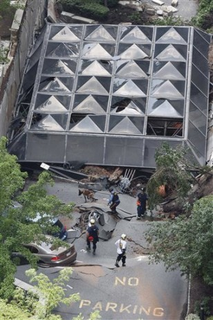 Image: Collapsed parking garage