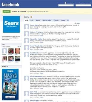 Image: Sears Facebook page
