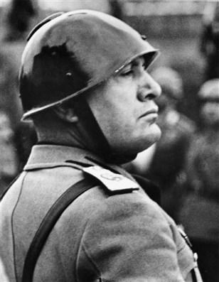 Image: Italian Premier-dictator Benito Mussolini