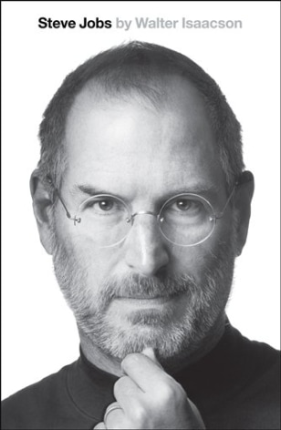 "Image: book cover image of ""Steve Jobs,"" by Walter Isaacson."