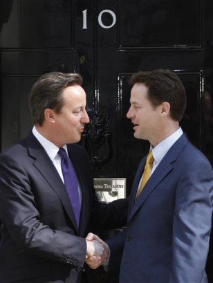 Image: David Cameron, Nick Clegg