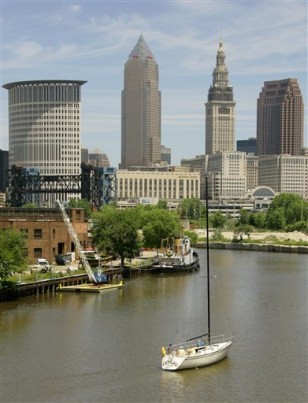 Image: Cuyahoga River in Cleveland